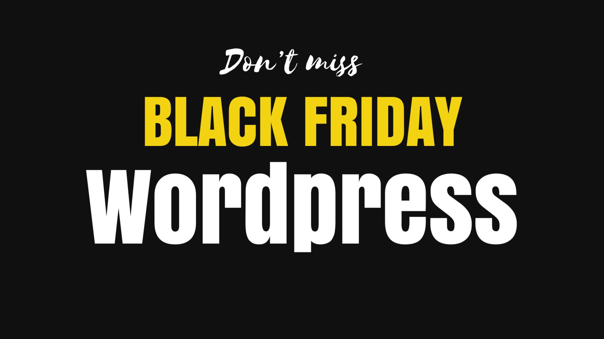 black friday deals wordpress