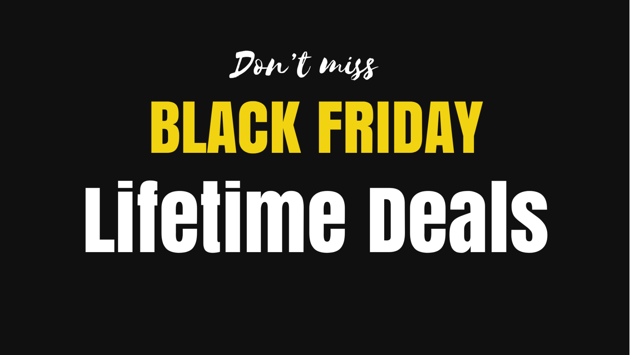 black friday lifetime deals
